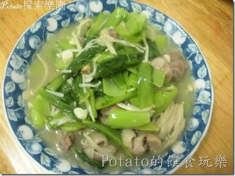 芥菜炒雞肉