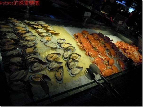 高雄漢神巨蛋海港餐廳。海鮮料理區。
