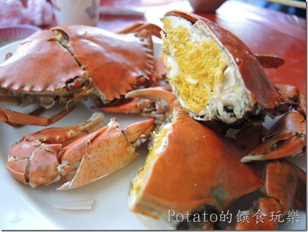 《台南美食》每到秋天一定要光顧[土城海產店]吃處女蟳螃蟹