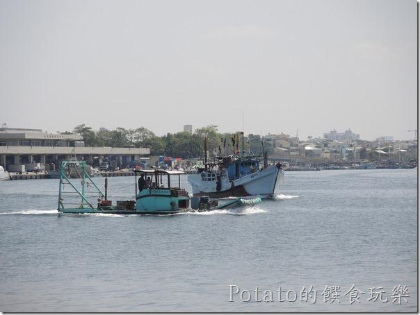 碧海碼頭的海景-漁船