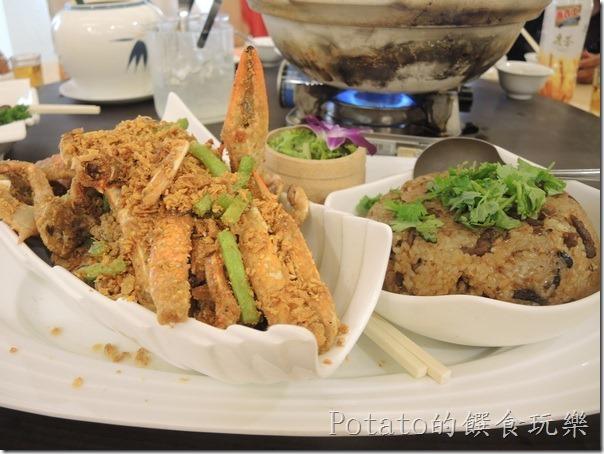 花蓮闔家歡餐廳--避風塘蟹米糕