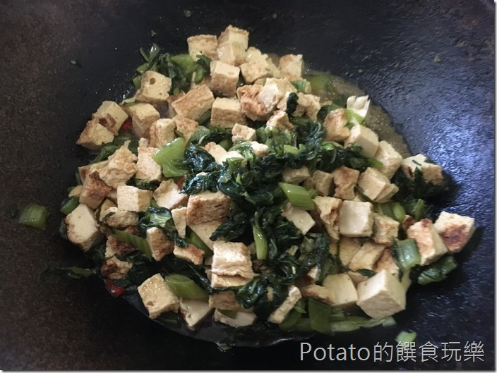 雪裡紅炒百頁豆腐2
