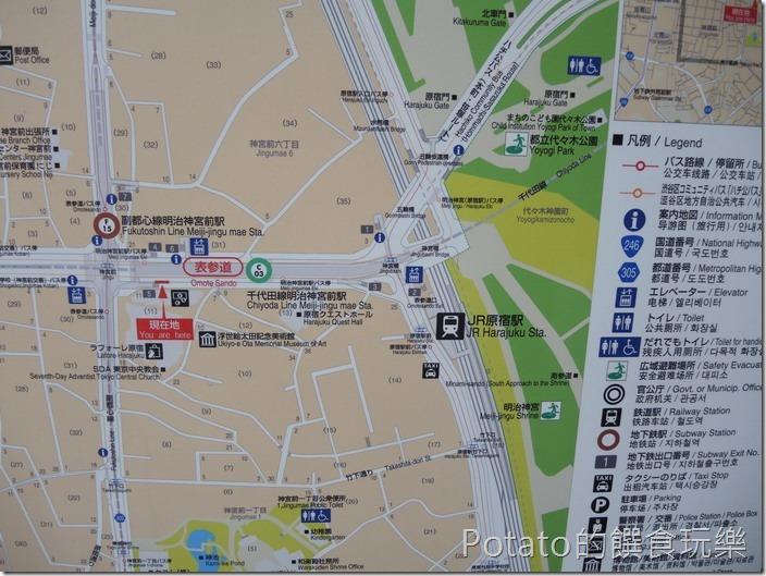 原宿車站地圖