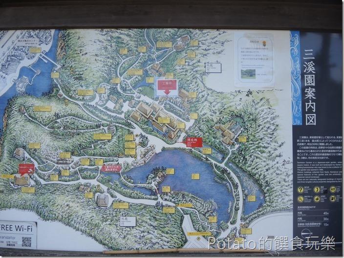 日本三溪園案內圖