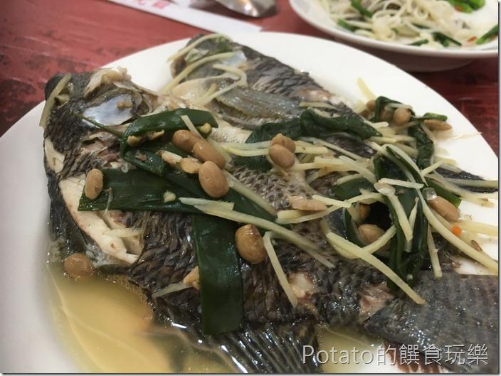 土城海產店豆醬吳郭魚1