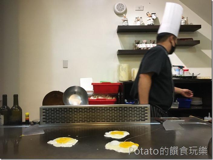 登野精緻鐵板料理煎蛋
