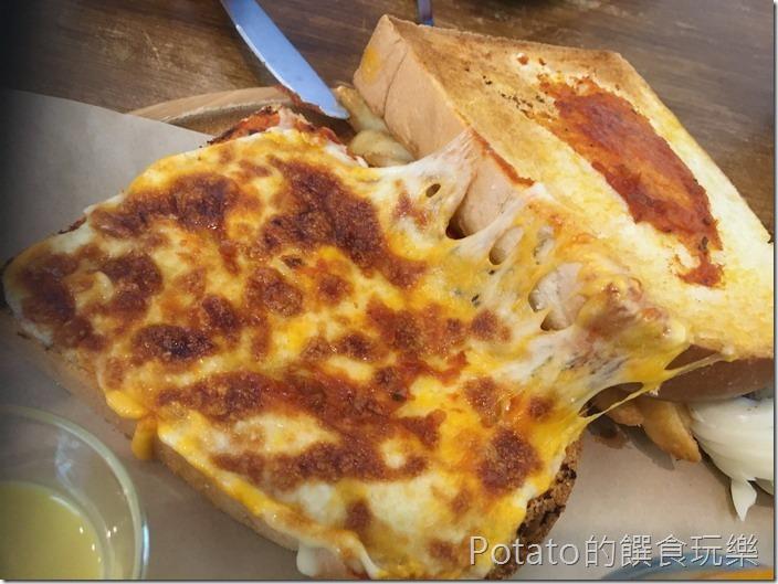 6吋盤早午餐熱煎乳酪三明治