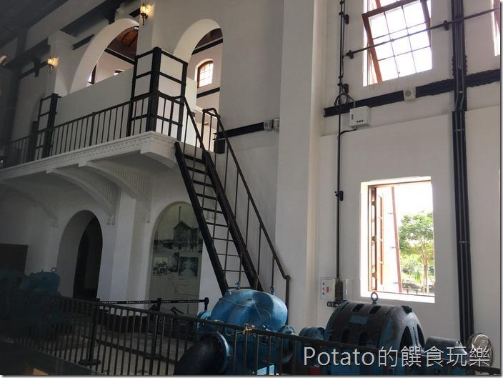 台南水道博物館送出唧筒室室內